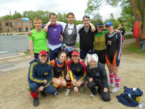 Wolfson's mixed eight at Summer Eights 2013.