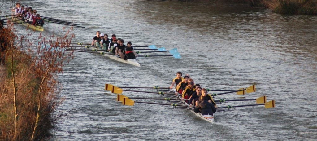 Wolfson's men's second boat competes in Torpids 2011.