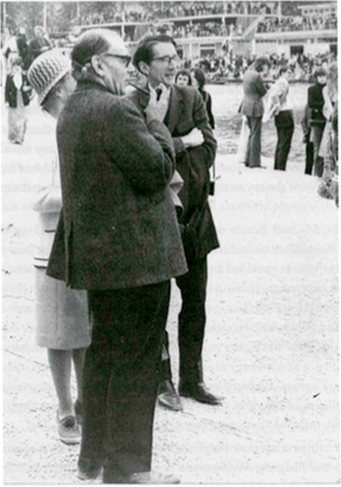 Sir Isaiah Berlin watches on as Wolfson competes in Summer Eights 1973.