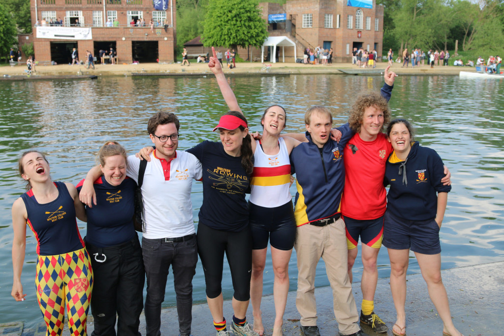 Our coxes 2016, some had to go into the Isis. (ltr: Kirstin Anderson, Allison Bryan, Andrew Balin, Zoe Goodwin, Stefany Wragg, Nic Palmius, Kevin Schlegel and Annie Bochu)