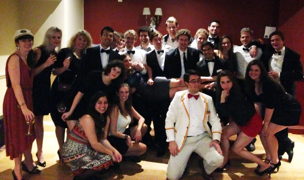 Novices, captains, and coxes celebrate Christ Church Regatta 2014.